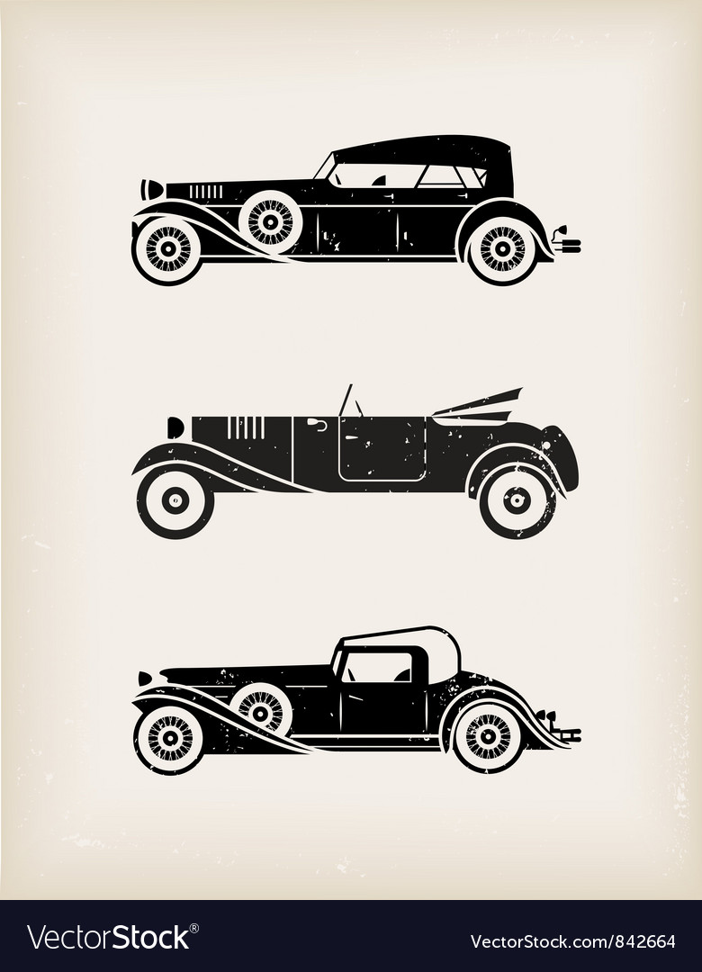 Vintage car vector | Price: 1 Credit (USD $1)