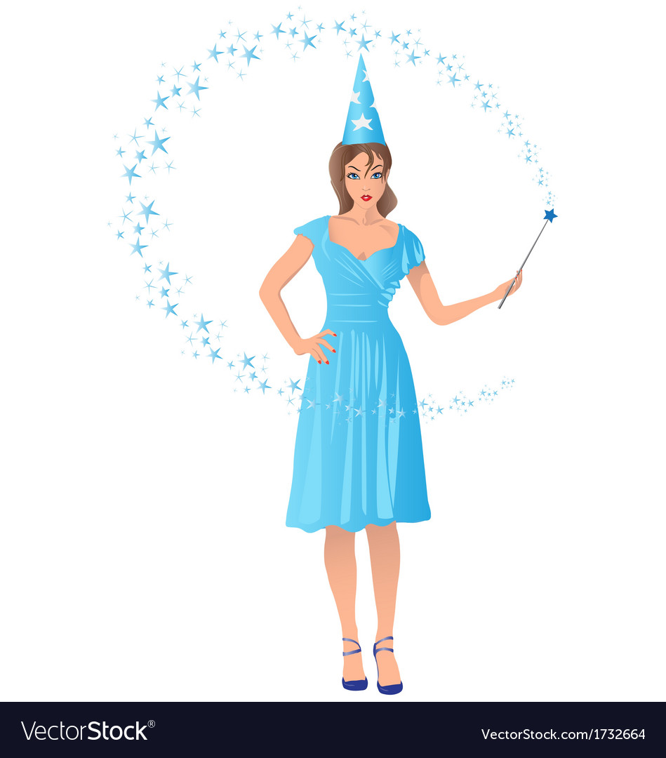 Wizard girl vector | Price: 1 Credit (USD $1)