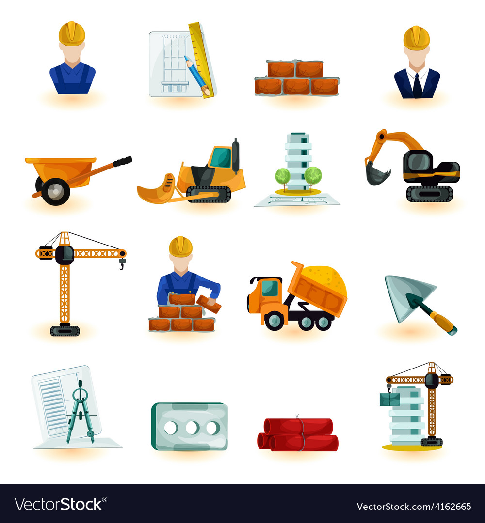 Architect icons set vector | Price: 3 Credit (USD $3)