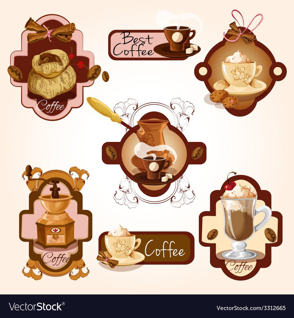 Coffee labels set vector | Price: 3 Credit (USD $3)