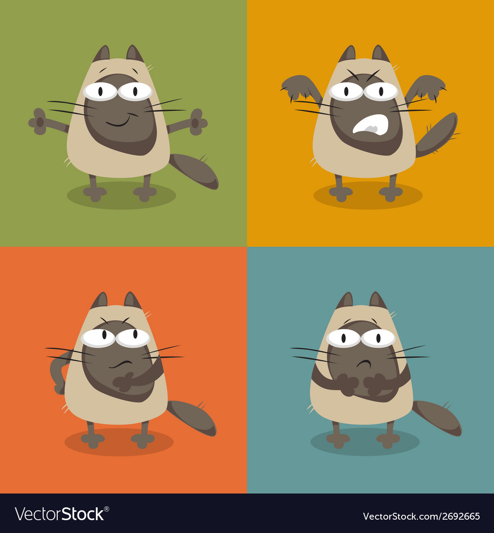 Collection of cats vector | Price: 1 Credit (USD $1)