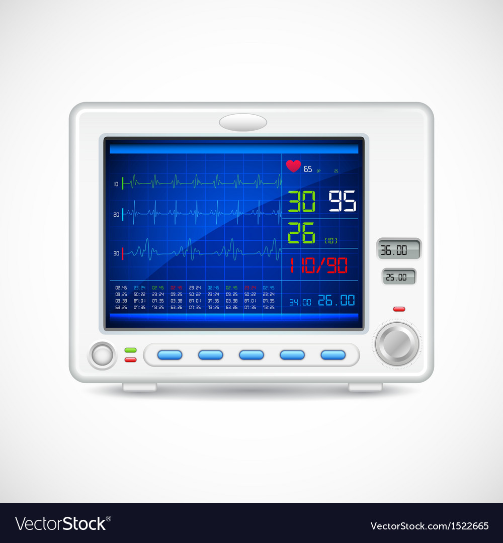 Ecg machine vector | Price: 1 Credit (USD $1)