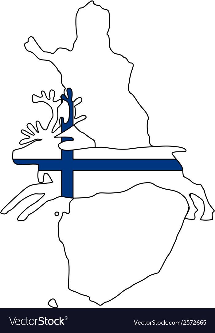 Finnish reindeer vector | Price: 1 Credit (USD $1)