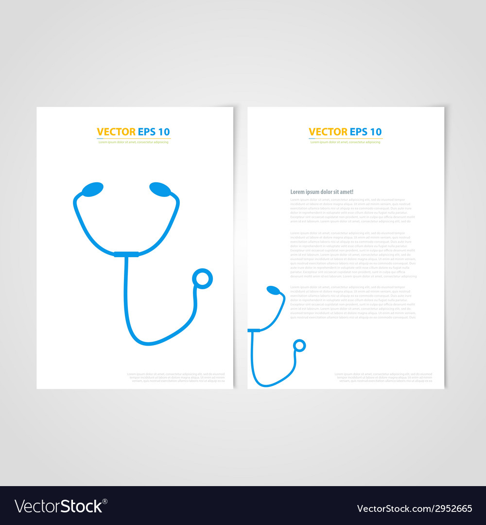 Flyer template back and front design medical icons vector   Price: 1 Credit (USD $1)