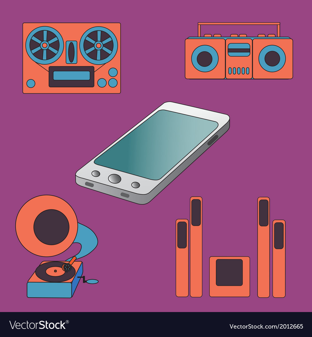 Many functions carries a modern mobile phone vector | Price: 1 Credit (USD $1)