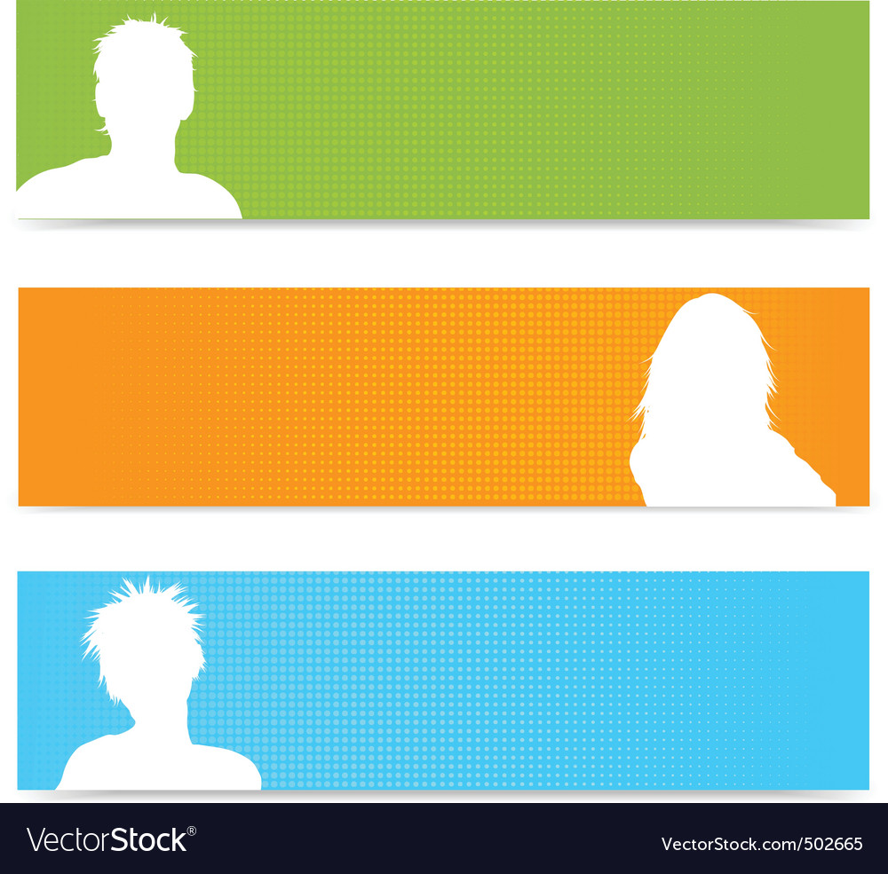 People avatar banners vector | Price: 1 Credit (USD $1)