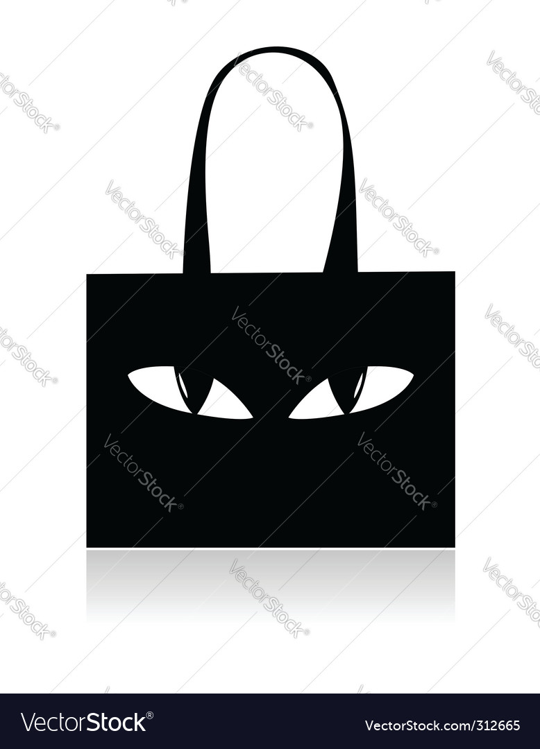 Shopping bag with eyes vector | Price: 1 Credit (USD $1)