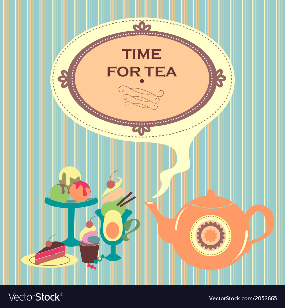 Time for tea vector | Price: 1 Credit (USD $1)