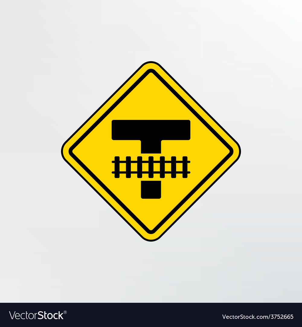 Warning traffic railroad crossing icon vector | Price: 1 Credit (USD $1)