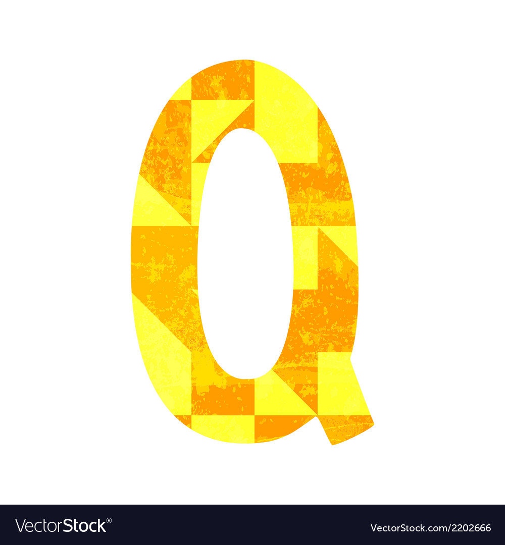 Abstract color alphabet q vector   Price: 1 Credit (USD $1)