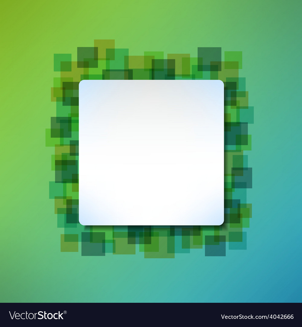 Banner message frame on abstract squared vector | Price: 1 Credit (USD $1)