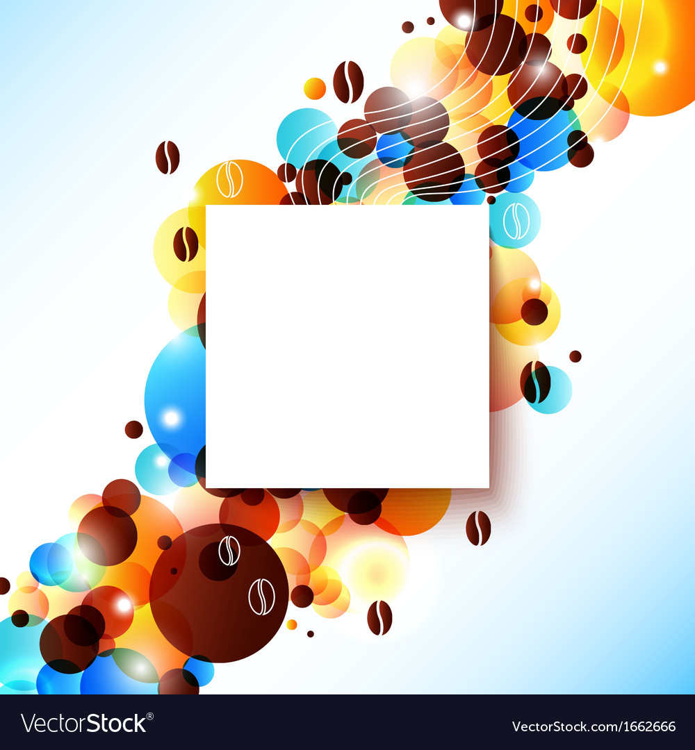 Bright coffee background with flare effect vector | Price: 1 Credit (USD $1)