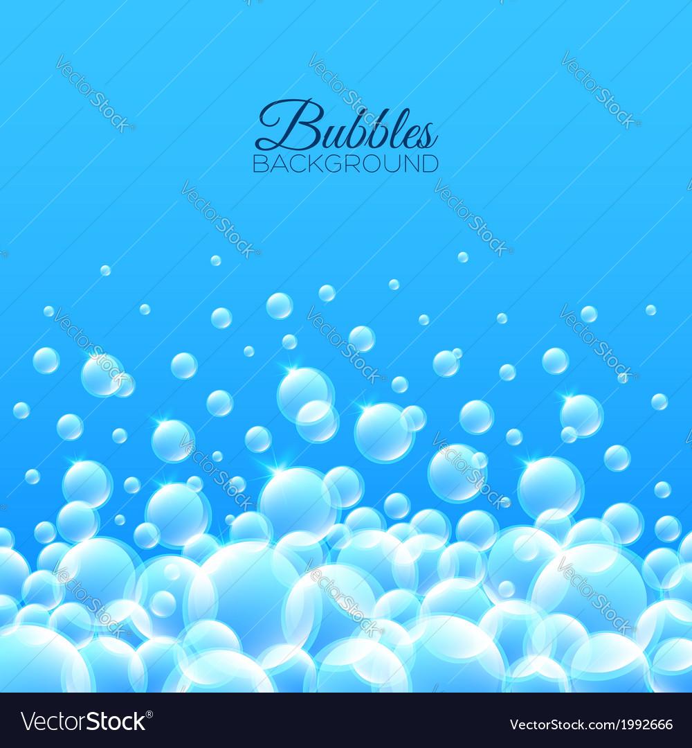 Bubbles underwater background vector   Price: 1 Credit (USD $1)