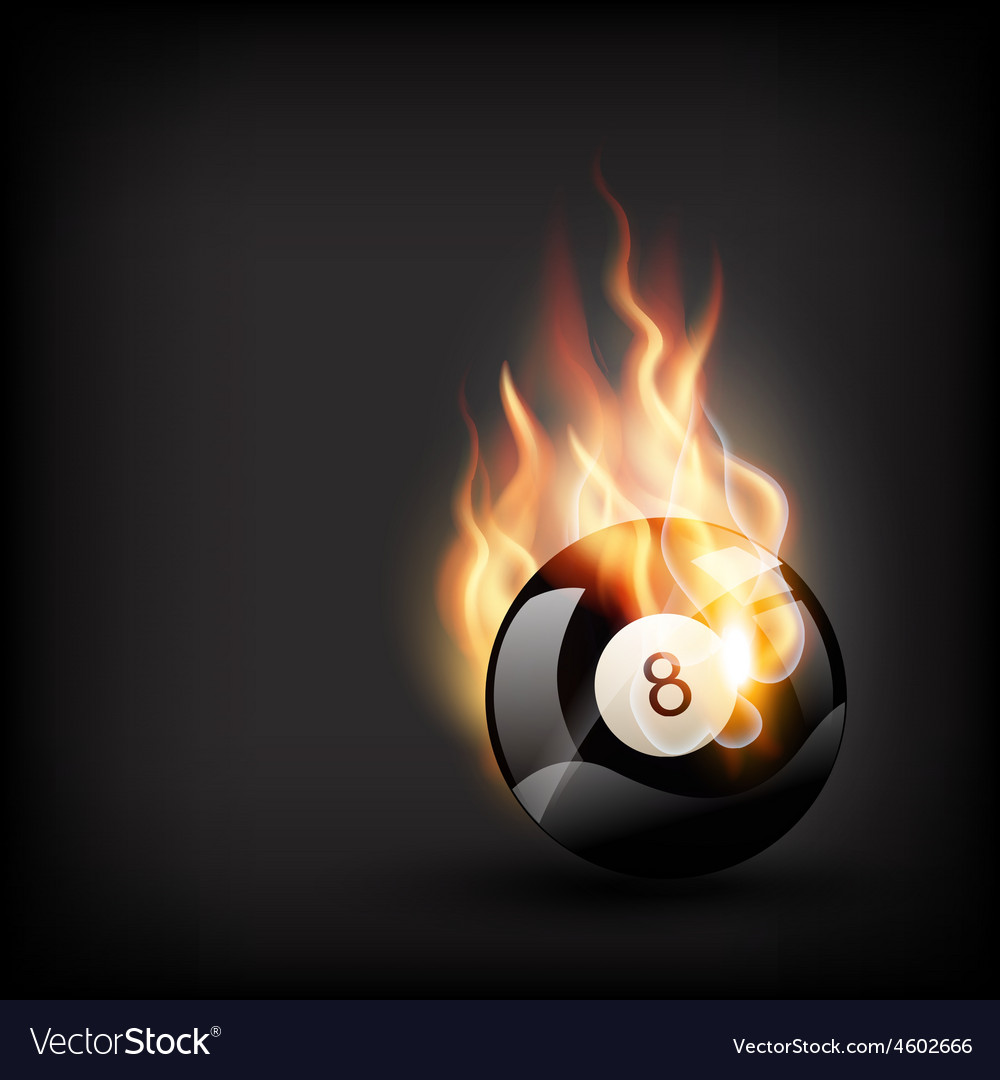 Burning pool ball vector | Price: 1 Credit (USD $1)