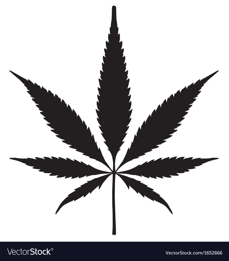 Cannabis leaf silhouette vector | Price: 1 Credit (USD $1)
