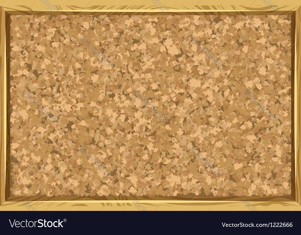 Corkboard with wooden frame vector | Price: 1 Credit (USD $1)
