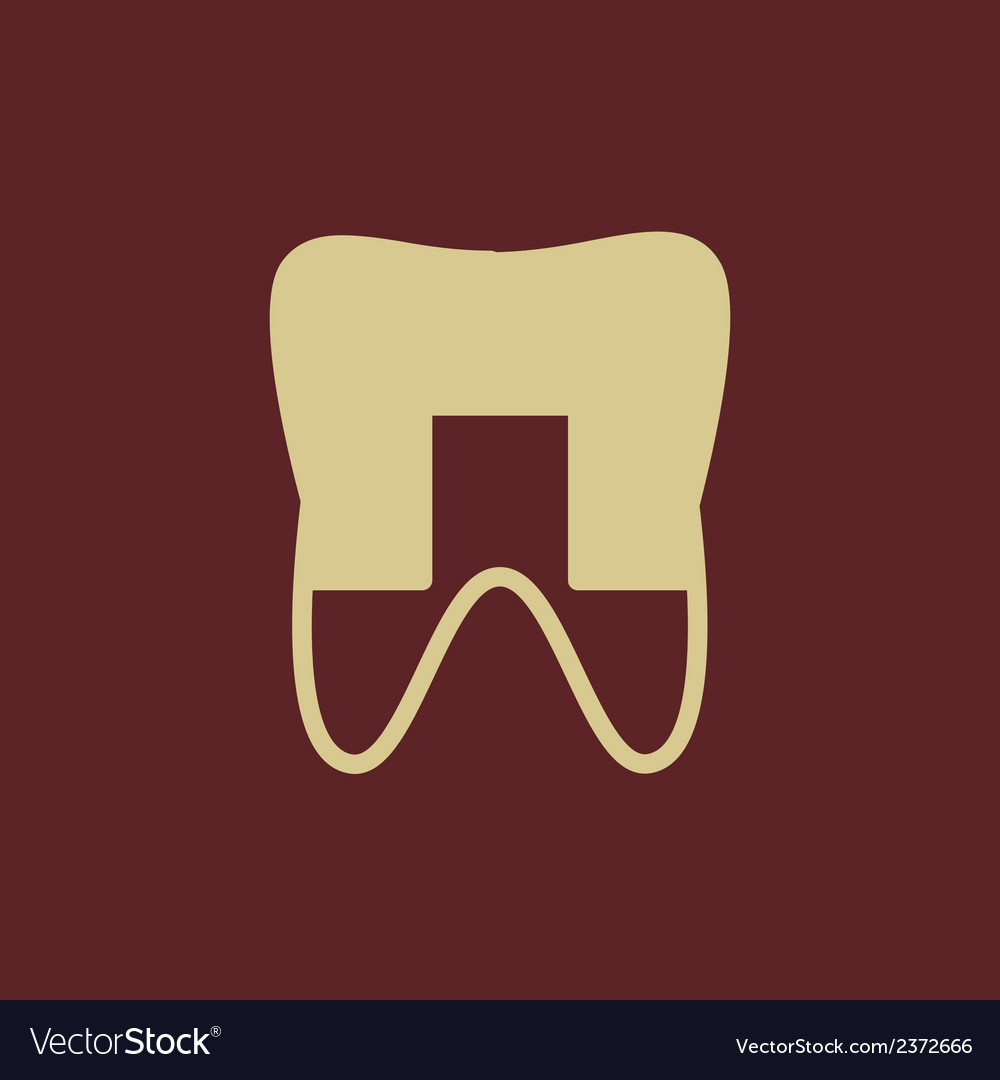Dental flat icon vector | Price: 1 Credit (USD $1)