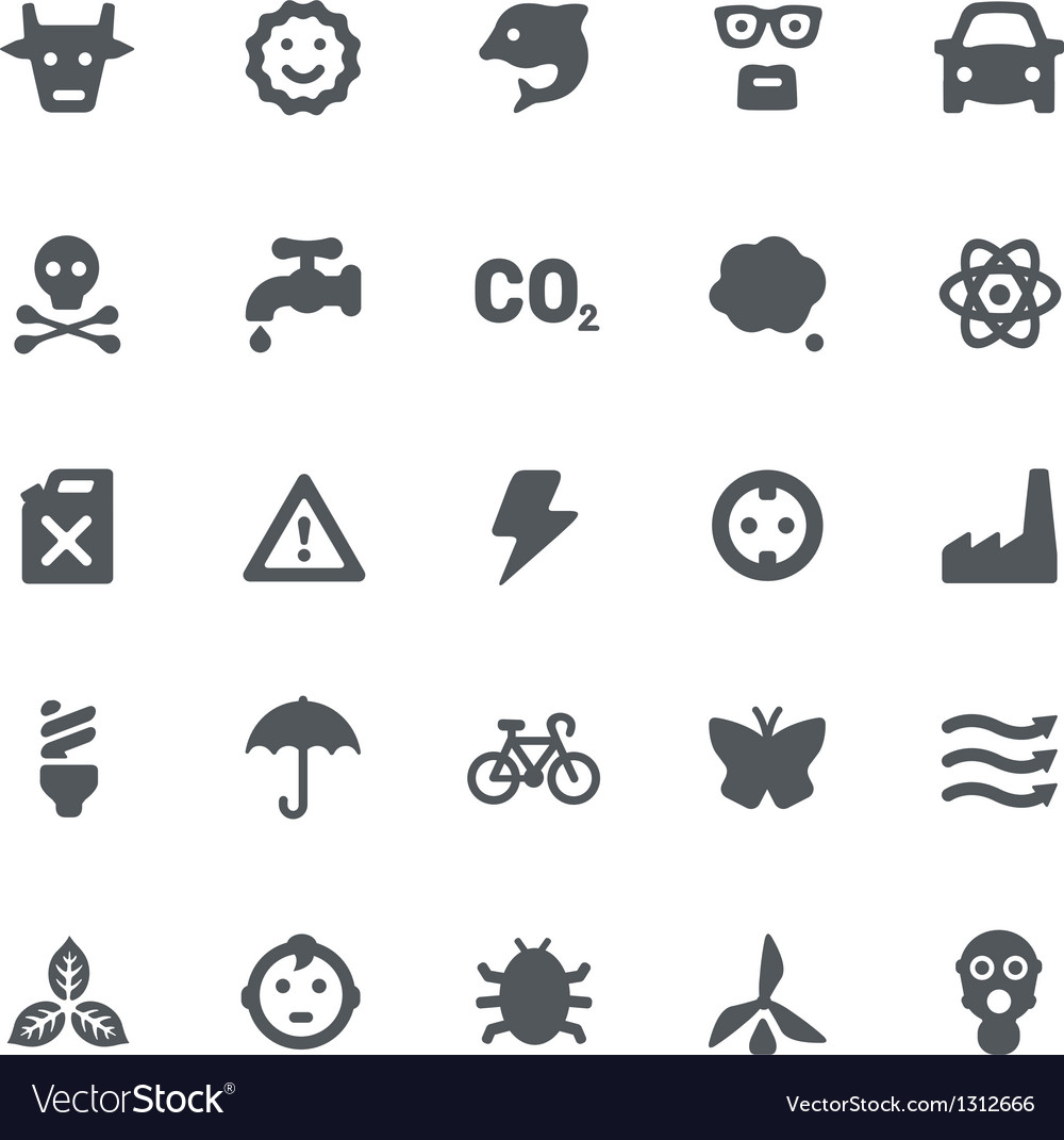 Eco energy icons set vector | Price: 1 Credit (USD $1)