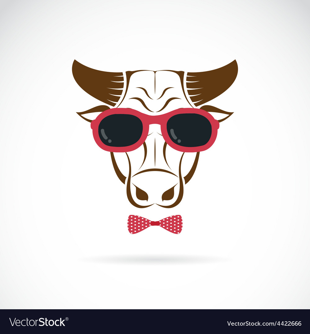 Images of bull wearing sunglasses vector | Price: 1 Credit (USD $1)