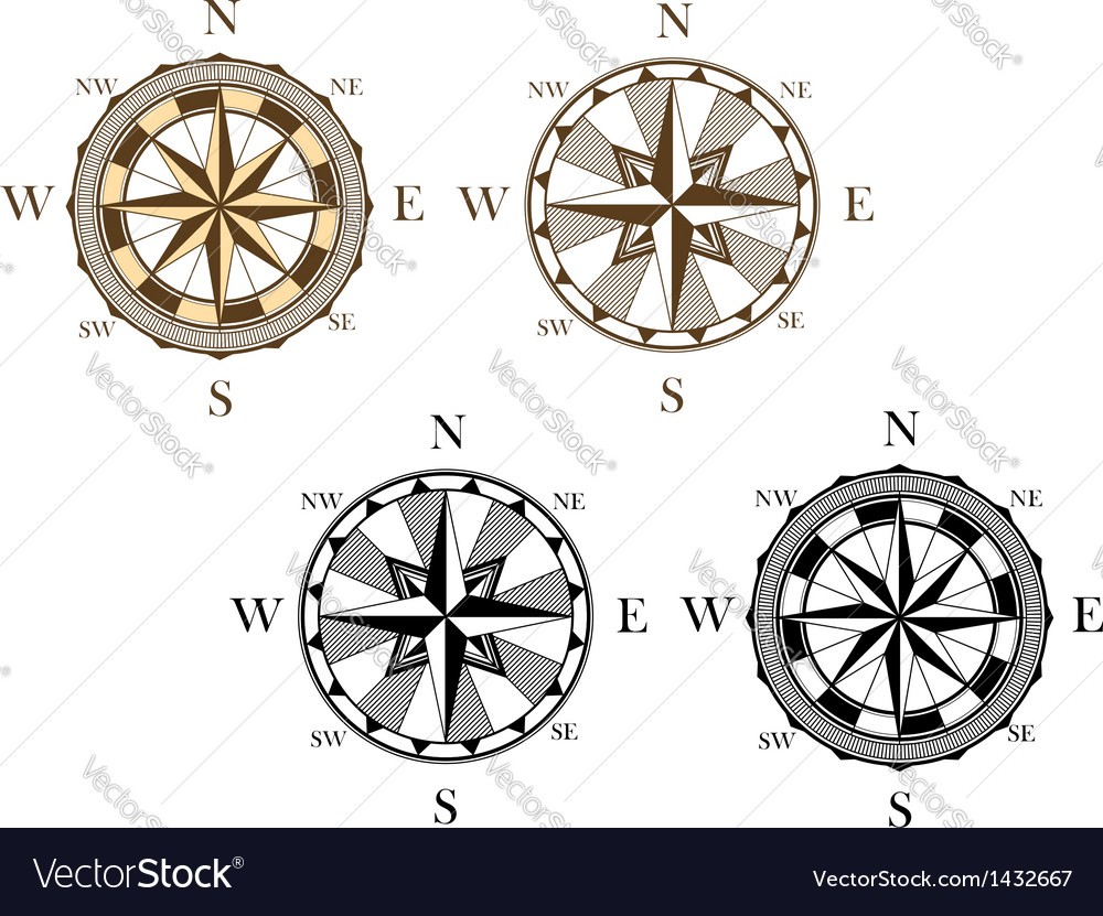 Ancient compass signs vector | Price: 1 Credit (USD $1)