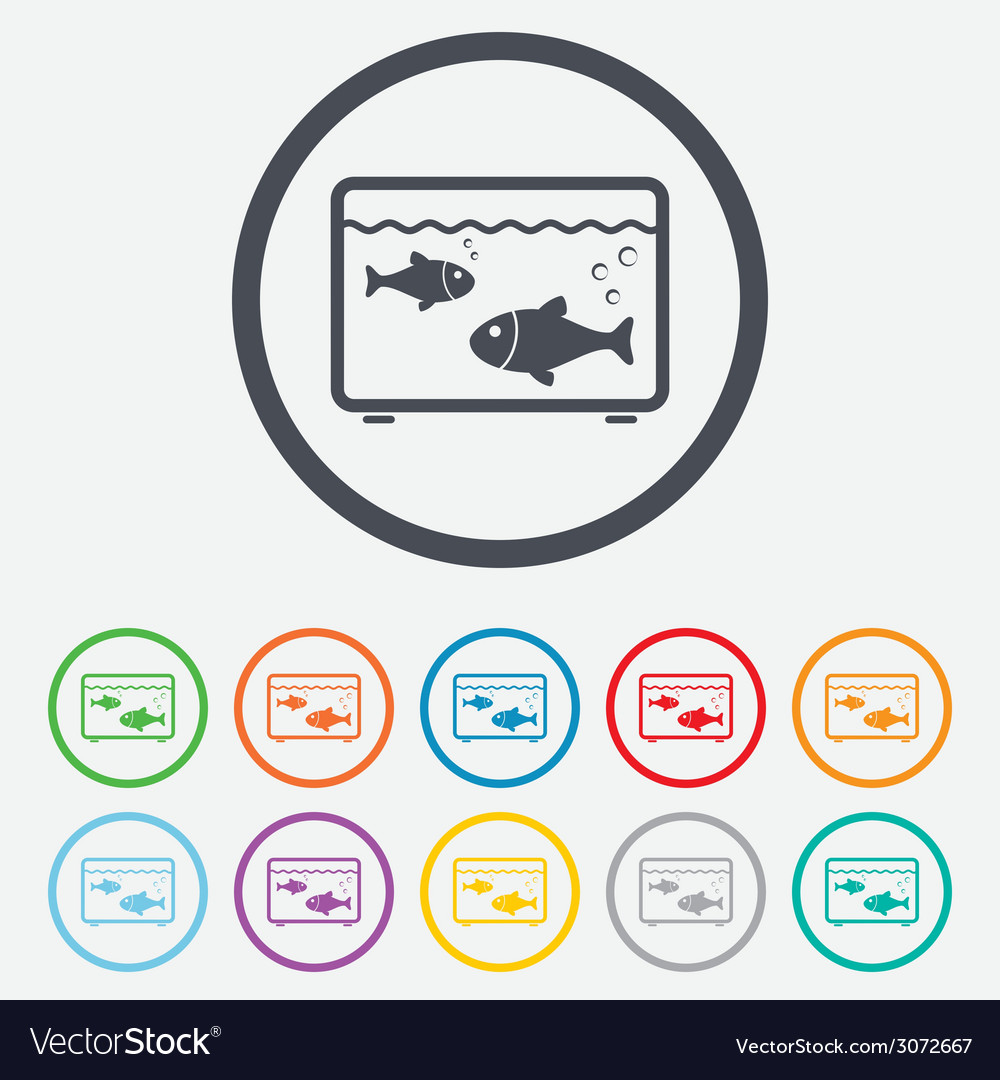 Aquarium sign icon fish in water symbol vector | Price: 1 Credit (USD $1)
