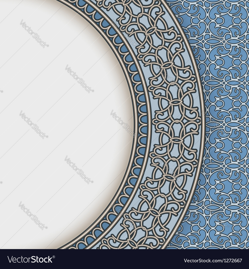 Blue china plate vector | Price: 1 Credit (USD $1)