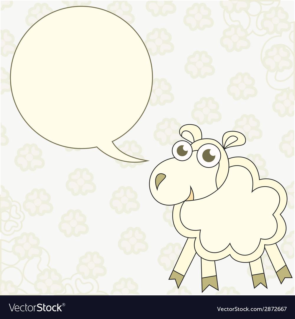 Cartoon sheep congratulates vector | Price: 1 Credit (USD $1)