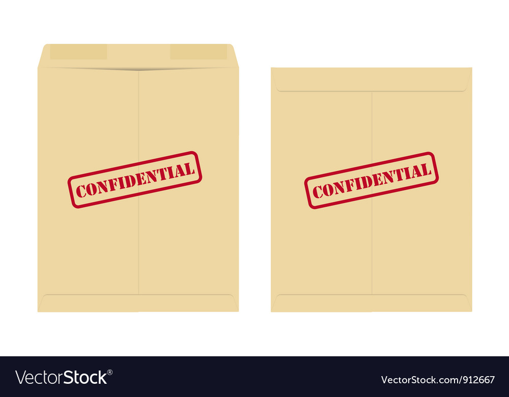Confidential envelope vector | Price: 1 Credit (USD $1)