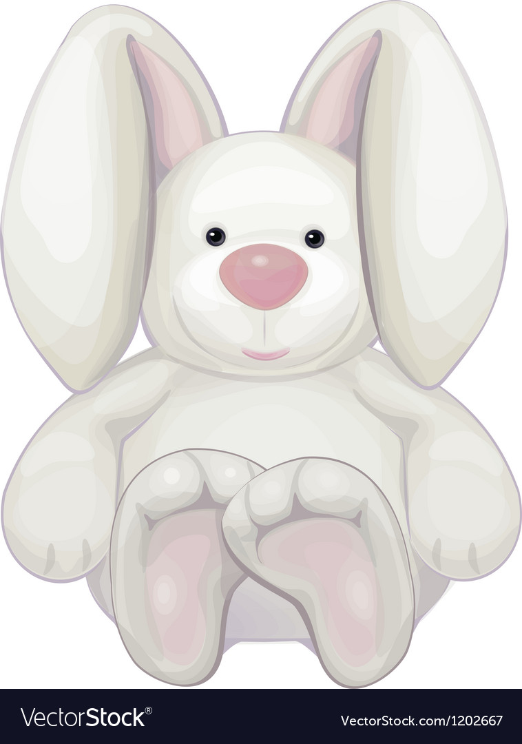 Cute rabbit isolated vector | Price: 1 Credit (USD $1)