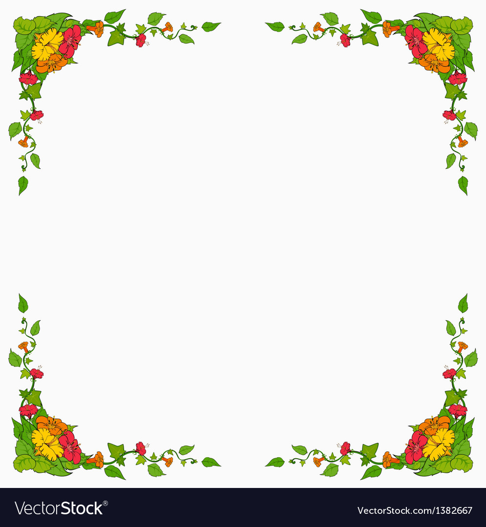 Floral frame background vector | Price: 1 Credit (USD $1)