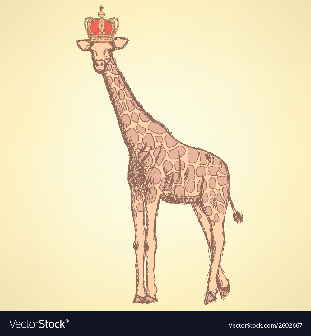 Giraffe crown vector | Price: 1 Credit (USD $1)