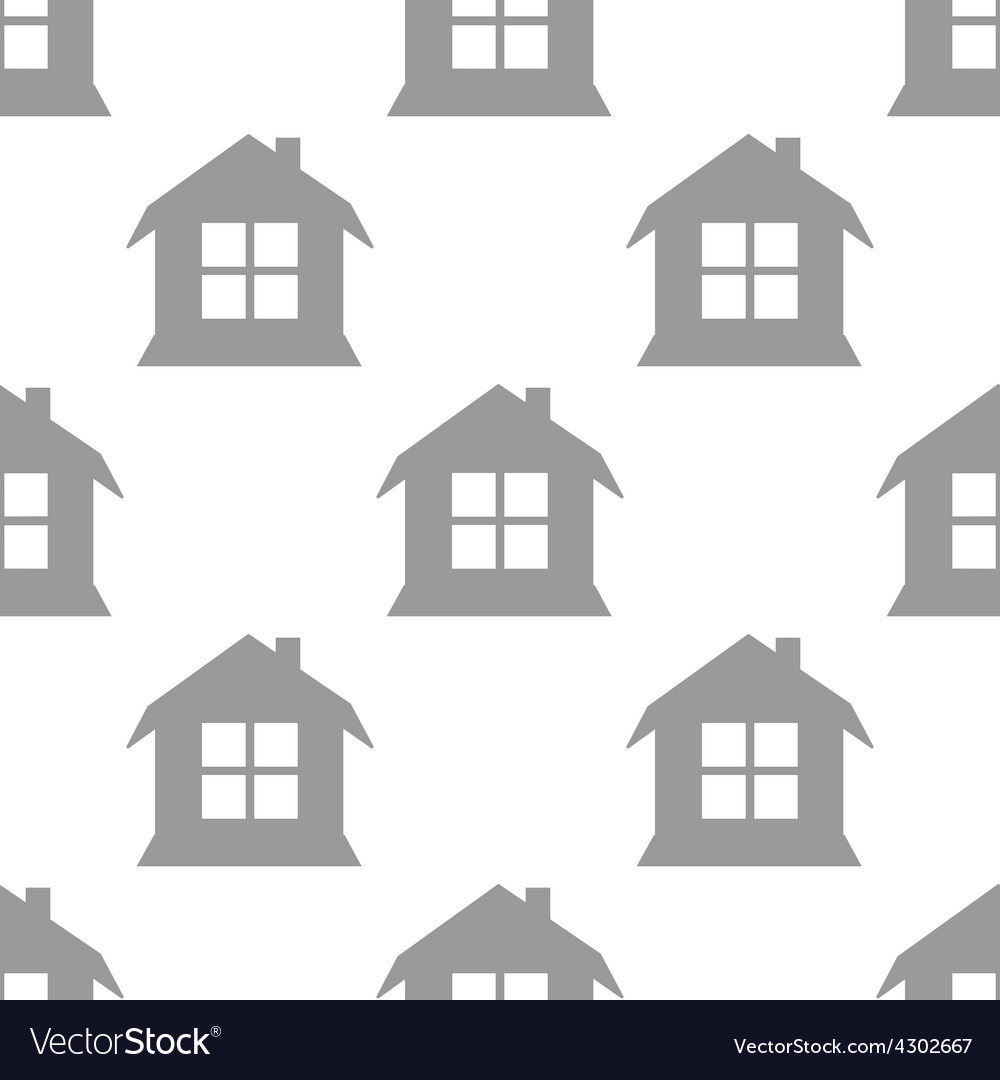 New house seamless pattern vector   Price: 1 Credit (USD $1)