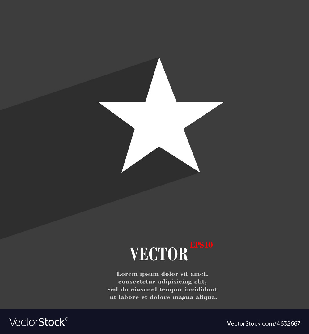Star favorite icon symbol flat modern web design vector | Price: 1 Credit (USD $1)