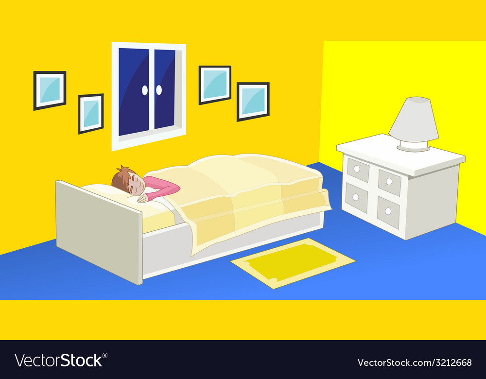 Bedroom - kid bedroom with a friendly atmosphe vector | Price: 1 Credit (USD $1)
