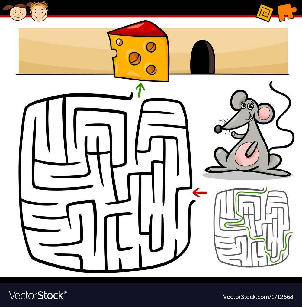 Cartoon maze or labyrinth game vector | Price: 1 Credit (USD $1)