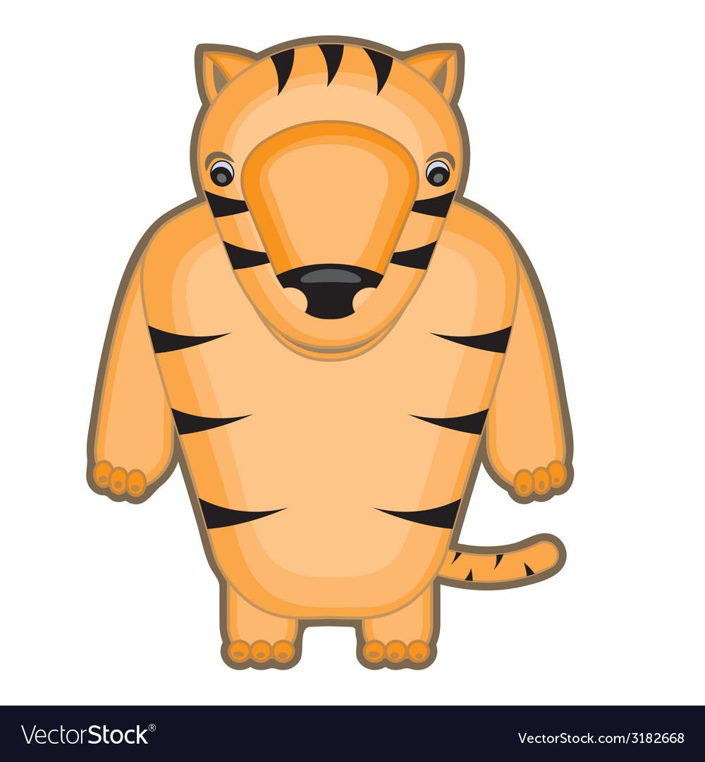 Cartoon of a baby tiger vector | Price: 1 Credit (USD $1)