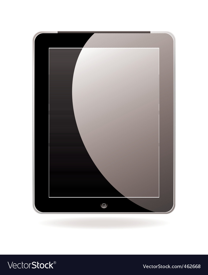 Computer tablet black vector | Price: 1 Credit (USD $1)