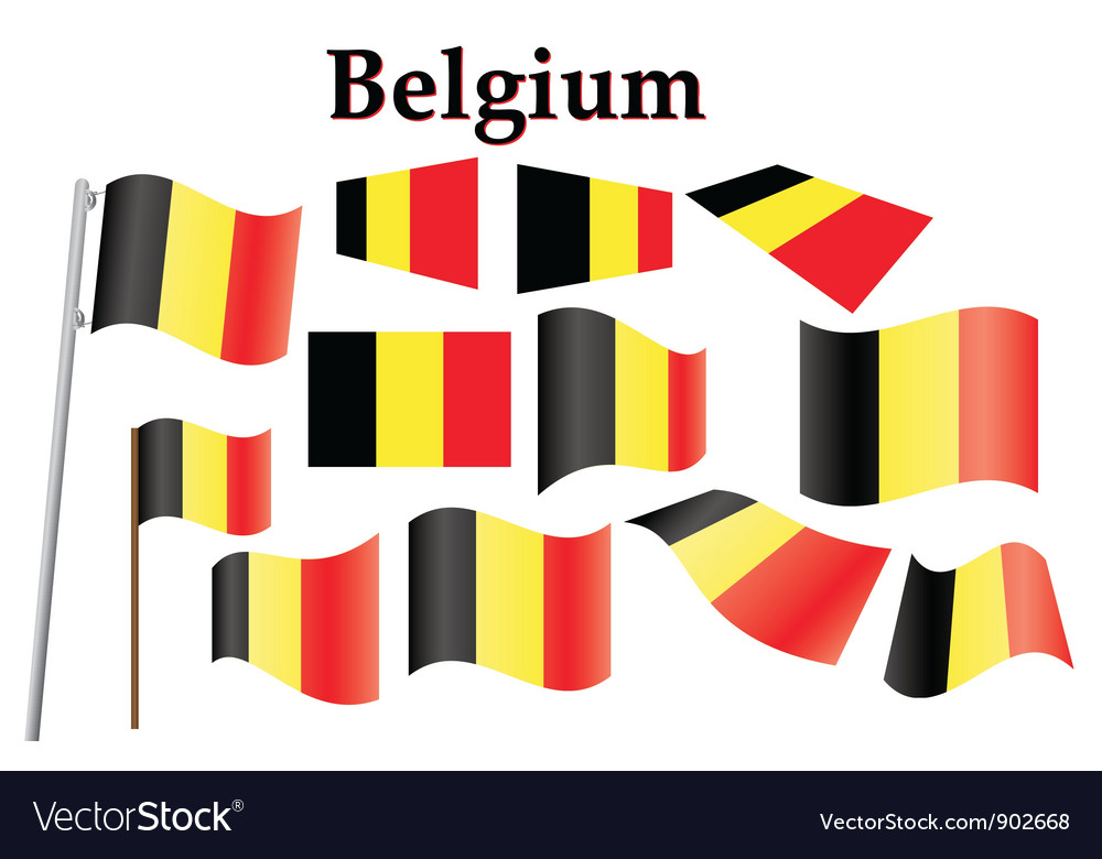 Flag of belgium vector | Price: 1 Credit (USD $1)