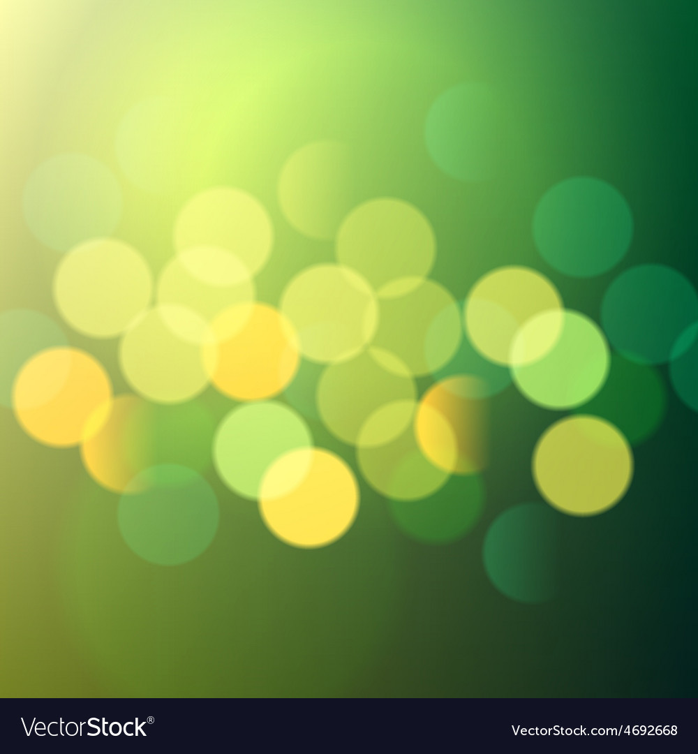 Green and yellow bokeh lights vector | Price: 1 Credit (USD $1)