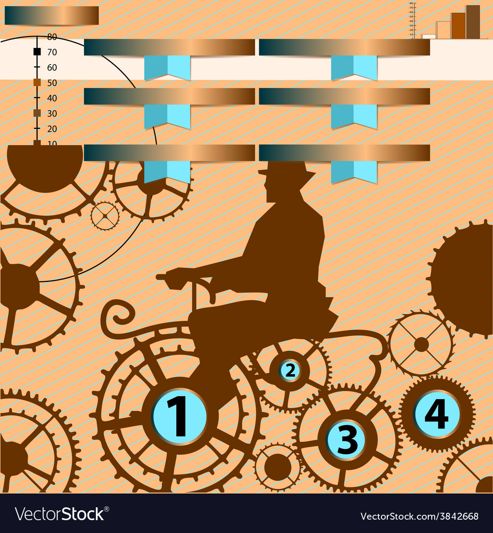 Infographic with gear vector | Price: 1 Credit (USD $1)
