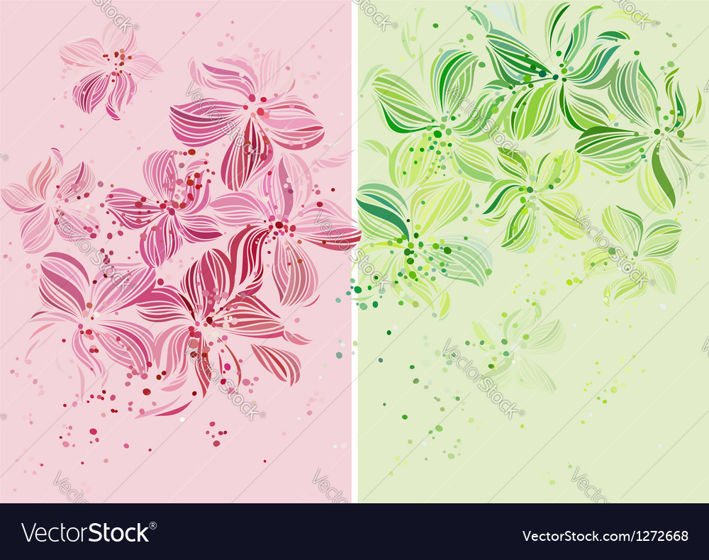 Orchids - beautiful pastel colored design vector | Price: 1 Credit (USD $1)