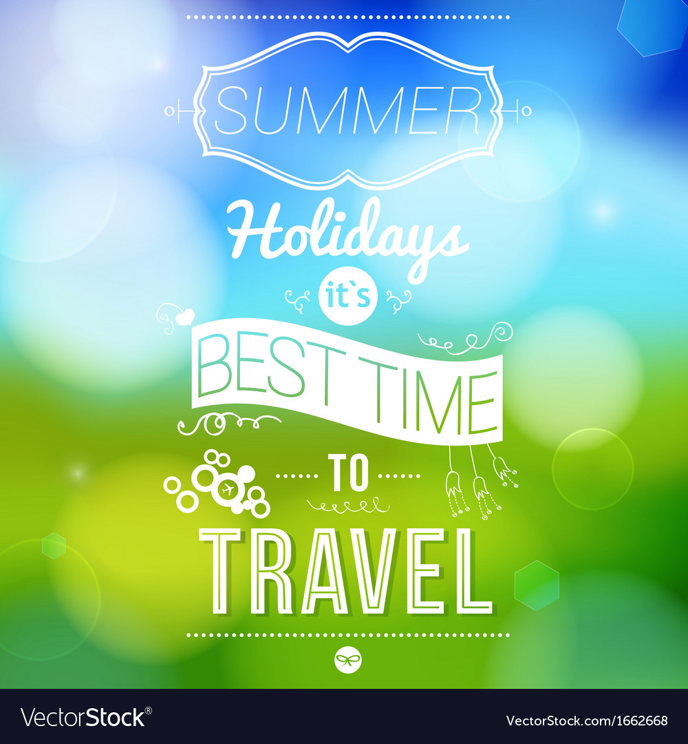 Summer holidays poster with blurry effect vector | Price: 1 Credit (USD $1)