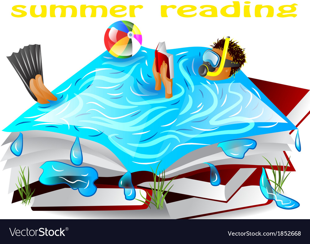 Summer reading vector | Price: 3 Credit (USD $3)