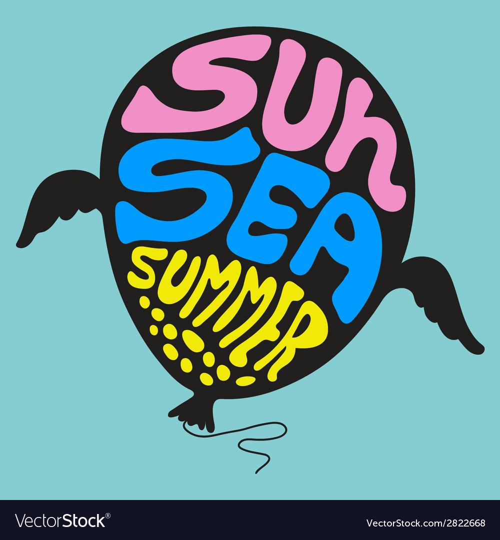 Sun sea summer - set 10 vector | Price: 1 Credit (USD $1)