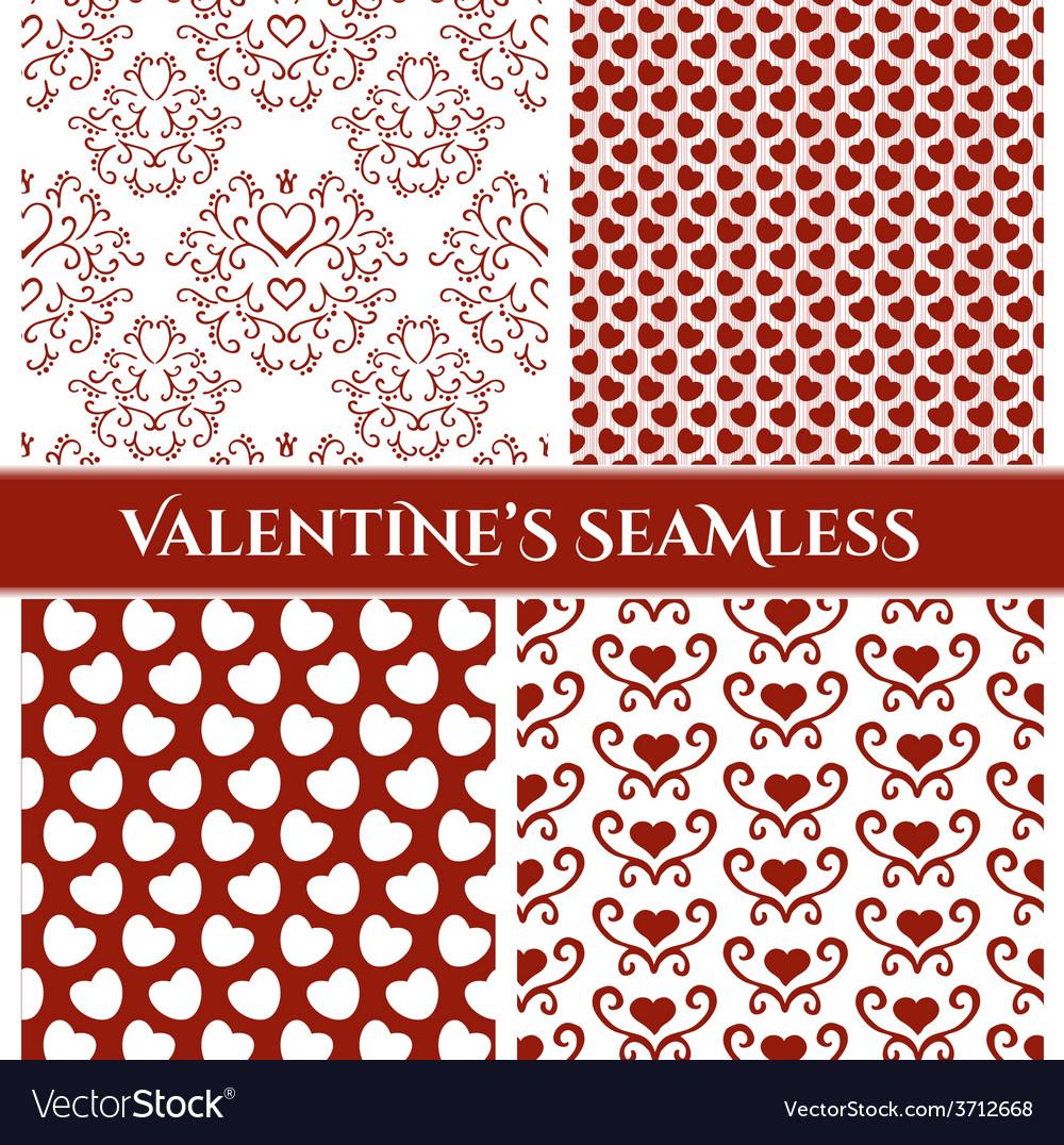 Valentines day set seamless vector | Price: 1 Credit (USD $1)