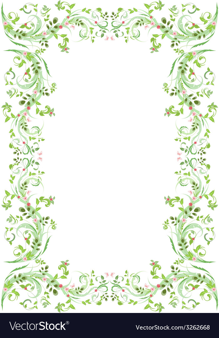 Vintage frame with butterflies for your design vector | Price: 1 Credit (USD $1)