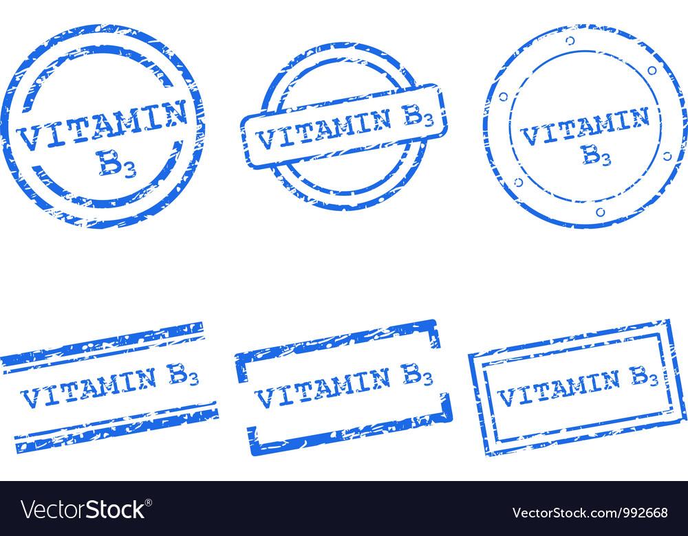 Vitamin b3 stamps vector | Price: 1 Credit (USD $1)