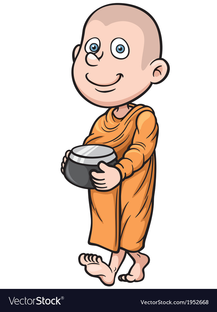 Young monk vector | Price: 1 Credit (USD $1)