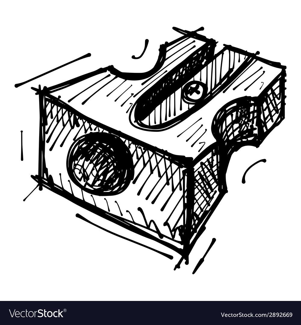 Black sketch drawing of sharpener vector | Price: 1 Credit (USD $1)