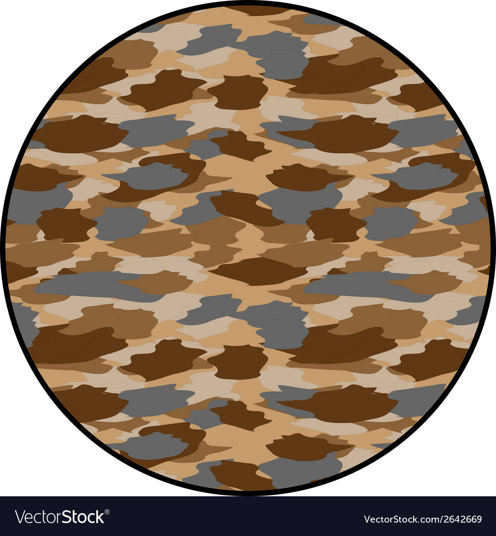 Desert camouflage button vector | Price: 1 Credit (USD $1)